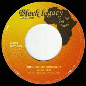 """(7"""") TENASTELIN - RICHEST CONTINENT / KEETY ROOTS - DUB CONTINENT"""