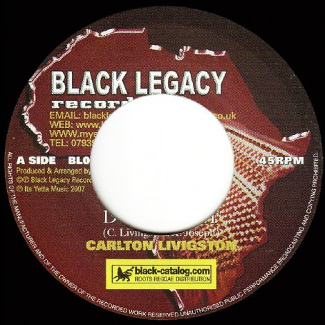 "(7"") CARLTON LIVINGSTON - DEFEND IT / KEETY ROOTS - DUB IT"