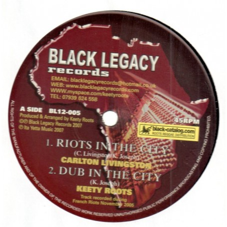 "(12"") CARLTON LIVINGSTON - RIOTS IN THE CITY"