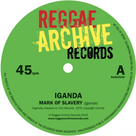 "(7"") IGANDA - MARK OF SLAVERY / SLOW DOWN"