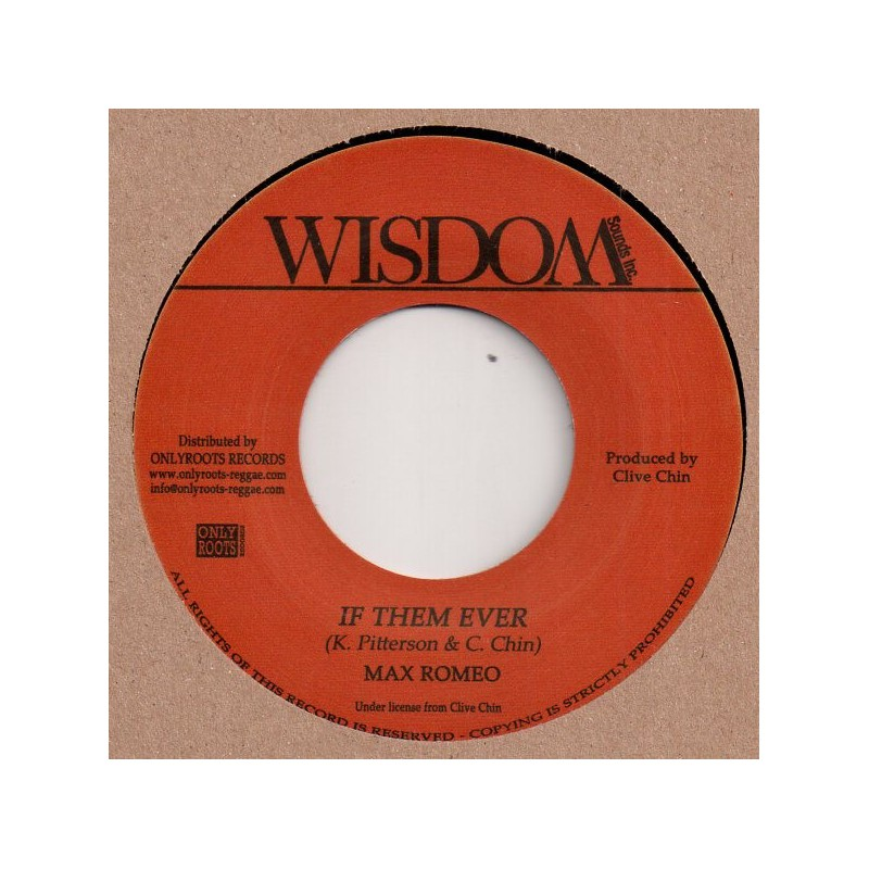 "(7"") MAX ROMEO - IF THEM EVER / RANDY'S ALL STARS - DUB WISE"