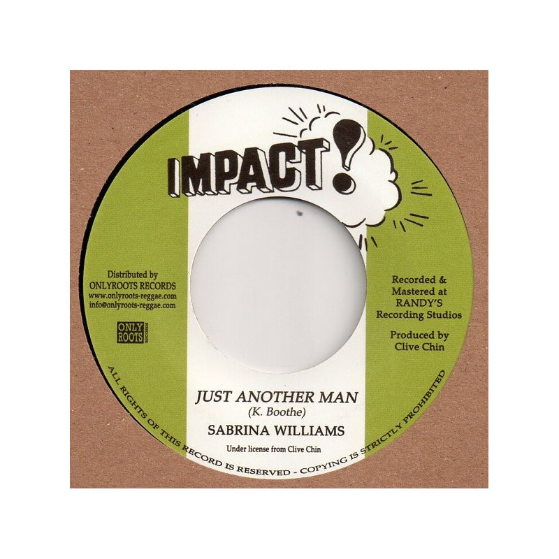 "(7"") SABRINA WILLIAMS - JUST ANOTHER MAN / JUST ANOTHER DUB"