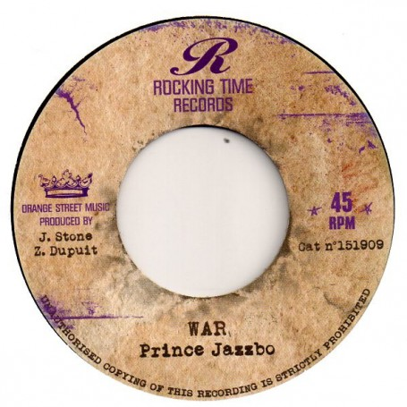 "(7"") PRINCE JAZZBO - WAR / ROCKING TIME ALL STARS - MELODICA STRIKES BACK"