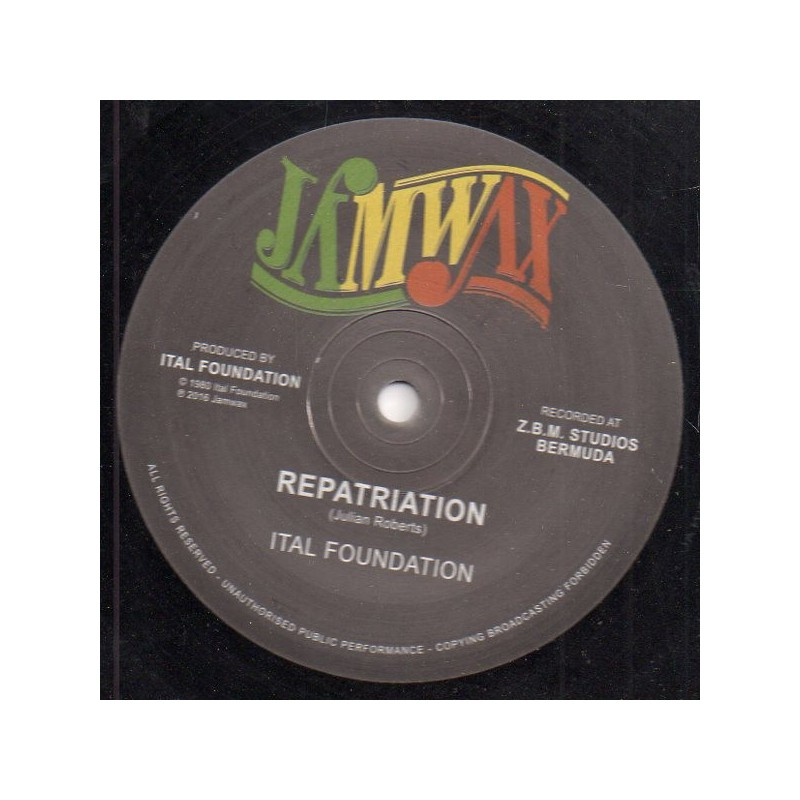 """(12"""") ITAL FOUNDATION - REPATRIATION (Extented) / BLACKMAN'S REDEMPTION (Extented)"""