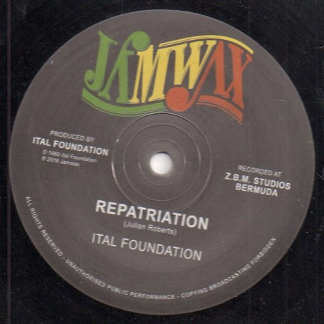 "(12"") ITAL FOUNDATION - REPATRIATION (Extented) / BLACKMAN'S REDEMPTION (Extented)"