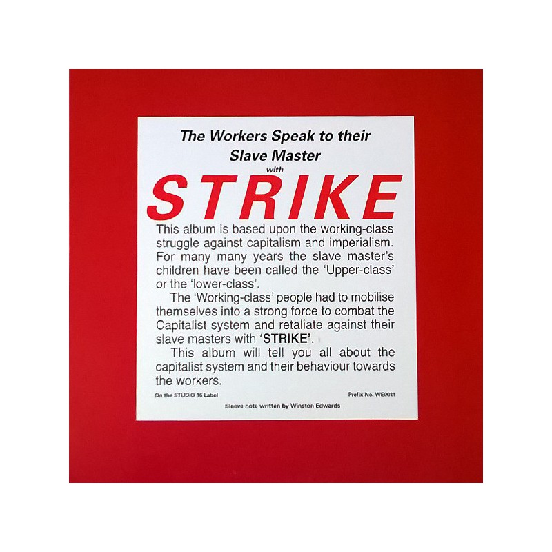 (LP) WELL PACK BAND - THE WORKERS SPEAK TO THEIR SLAVE MASTER WITH STRIKE