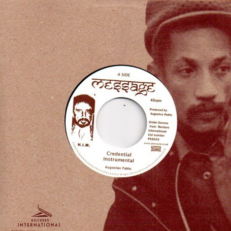 "(7"") AUGUSTUS PABLO - CREDENTIAL INSTRUMENTAL / ROCKERS INTERNATIONAL BAND - BLACK BLACK DUB"