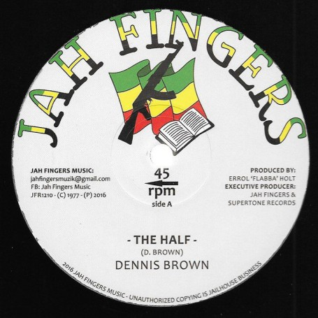 "(12"") DENNIS BROWN - THE HALF / BLESS ME JAH"