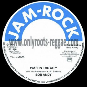 "(7"") BOB ANDY - WAR IN THE CITY / VERSION"