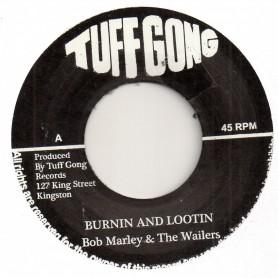 """(7"""") BOB MARLEY & THE WAILERS - BURNIN AND LOOTIN / RASTAMAN CHANT"""
