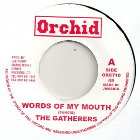 """(7"""") THE GATHERERS - WORDS OF MY MOUTH / THE UPSETTERS - WORD A MOUTH DUB"""