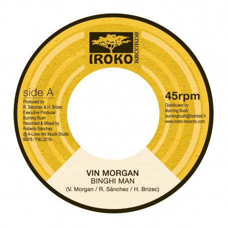 """(7"""") VIN MORGAN - BINGHI MAN / LONE ARK - VERSION"""