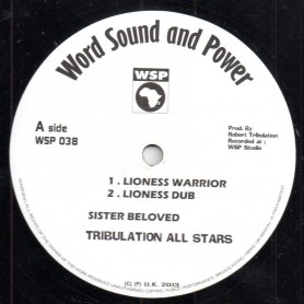 "(12"") SISTER BELOVED & TRIBULATION ALL STARS - LIONESS WARRIOR / MARCUS"