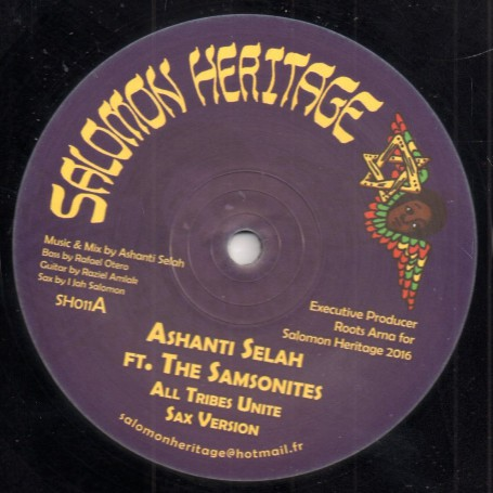 "(12"") ASHANTI SELAH FT. THE SAMSONITES - ALL TRIBES UNITE / KIBIR LA AMLAK FT. I JAH SALOMON - BORN FOR A PURPOSE"