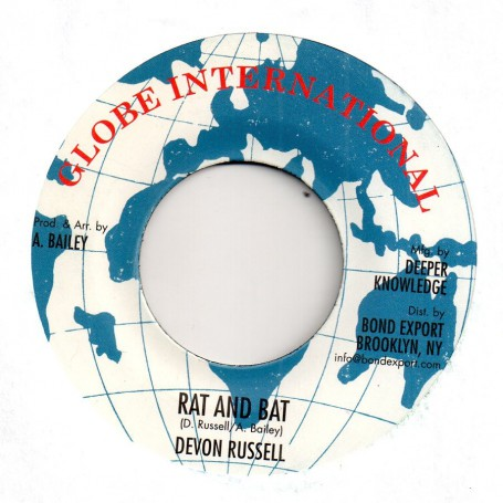 "(7"") DEVON RUSSELL - RAT & BAT / RACE TRACK RIOT VERSION"