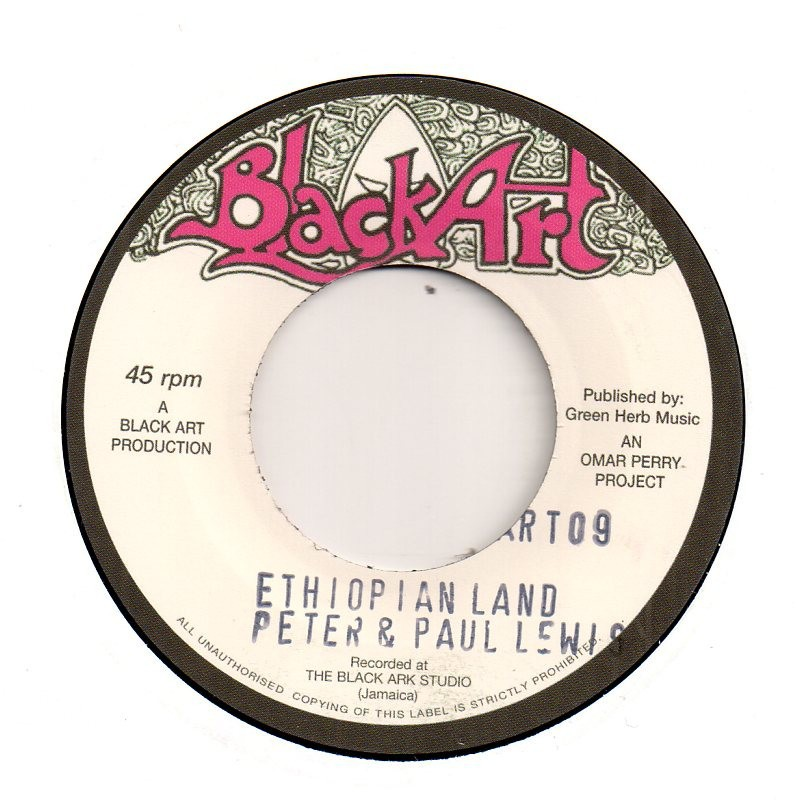 "(7"") PETER & PAUL LEWIS - ETHIOPIAN LAND / THE UPSETTERS - DUBLAND"