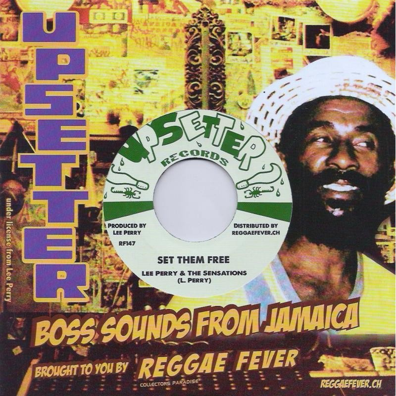 "(7"") LEE PERRY & THE SENSATIONS - SET THEM FREE / DON'T BLAME THE CHILDREN"