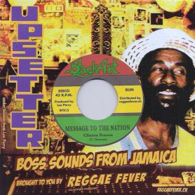 "(7"") CLINTON FEARON - MESSAGE TO THE NATION / UPSETTERS - DUB MESSAGE"