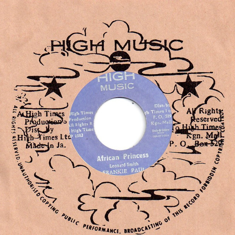 "(7"") FRANKIE PAUL - AFRICAN PRINCESS / HIGH TIMES PLAYERS - AFRICAN STYLE"