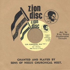 "(7"") RAS MICHAEL WITH THE SONS OF NEGUS - RUN AGRESSORS RUN PART 1 / SONS OF NEGUS - ETHIOPIAN NATIONAL ANTHEM"