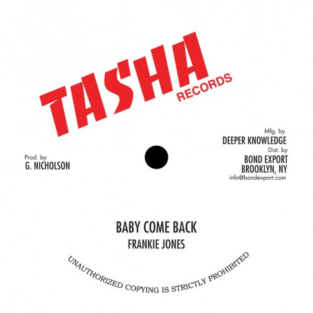 "(10"") FRANKIE JONES - BABY COME BACK / STEVE KNIGHT - FEEL LIKE DANCING / MICHAEL PALMER - JAH IS ON MY MIND"