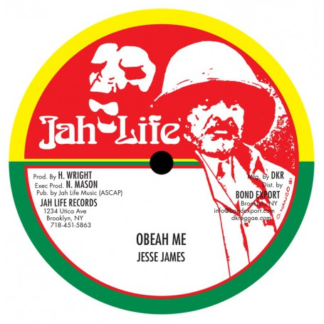 "(10"") JESSE JAMES - OBEAH ME / VERSION"