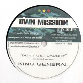 """(10"""") KING GENERAL - DON'T GET CAUGHT / RIDDIM - BUN UP"""