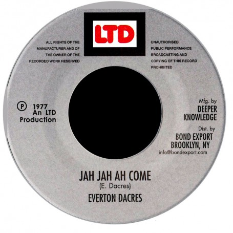 "(7"") EVERTON DACRES - JAH JAH AH COME"