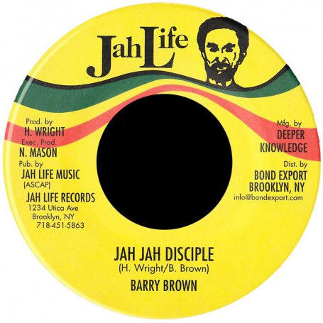 "(7"") BARRY BROWN - JAH JAH DISCIPLE / DISCIPLE OF DUB"