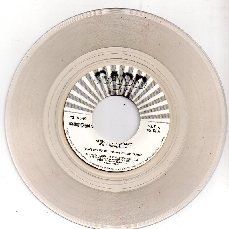 "(7"") PRINCE RAS MURRAY FEAT JOHNNY CLARKE - AFRICAN DECENDANT / BIG JOE FEAT LEROY SMART - KEEP ON ROCKING & SWINGING"