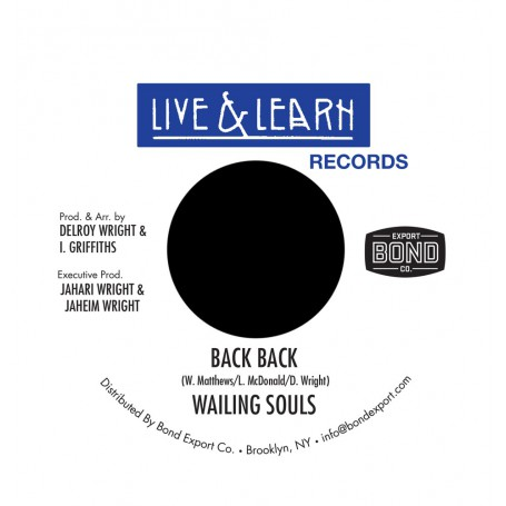 "(7"") WAILING SOULS - BACK BACK / VERSION"