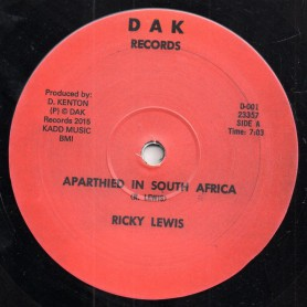 """(12"""") RICKY LEWIS - APARTHEID IN SOUTH AFRICA / AFRICAN STRUGGLER"""