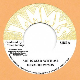 "(7"") LINVAL THOMPSON - SHE IS MAD WITH ME / SHE IS MAD WITH DUB"