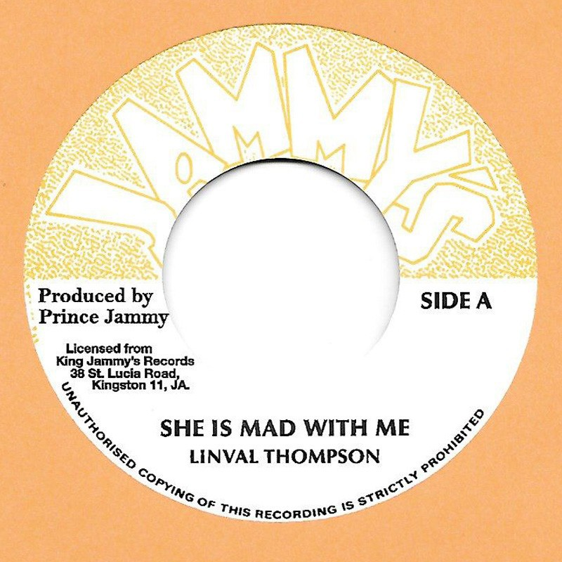 """(7"""") LINVAL THOMPSON - SHE IS MAD WITH ME / SHE IS MAD WITH DUB"""