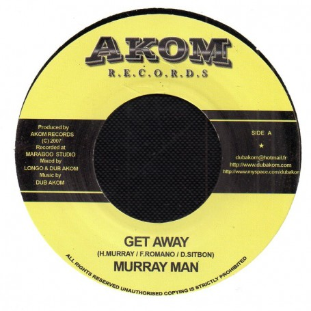 "(7"") MURRAY MAN - GET AWAY / KUMINA RIDDIM - DUB VERSION"