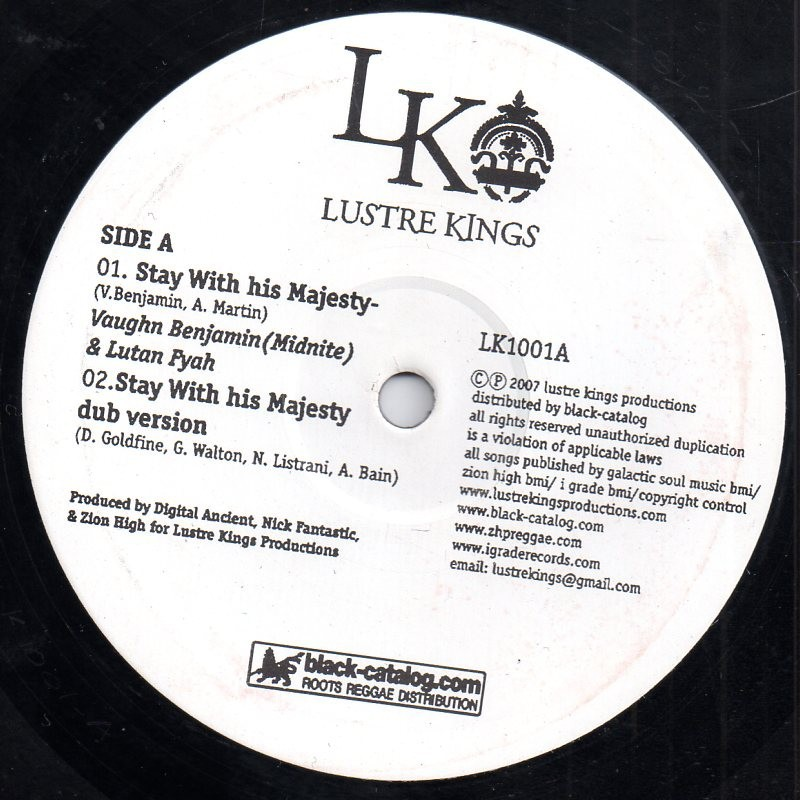 "(10"") VAUGHN BENJAMIN - STAY WITH HIS MAJESTY / WHY, WHY, WHY"