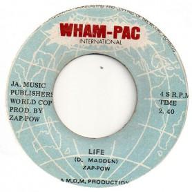 """(7"""") ZAP POW - LIFE / TONIGHT WE LOVE... TONIGHT"""