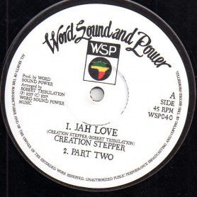 "(12"") CREATION STEPPER MEETS ROBERT TRIBULATION - JAH LOVE / THIS MAN"
