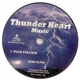 """(7"""") KING ALPHA - YOGA TEACHER / DUB TEACHER"""