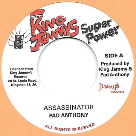 "(7"") PAD ANTHONY - ASSASSINATOR / ASSASSINATOR DUB"