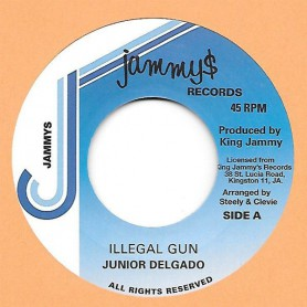 "(7"") JUNIOR DELGADO - ILLEGAL GUN / ILLEGAL VERSION"