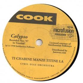"""(7"""") CYRIL DIAZ - ORCHESTRA - TI CHABINE MANZE TITINE LA / MME. KILLIO"""