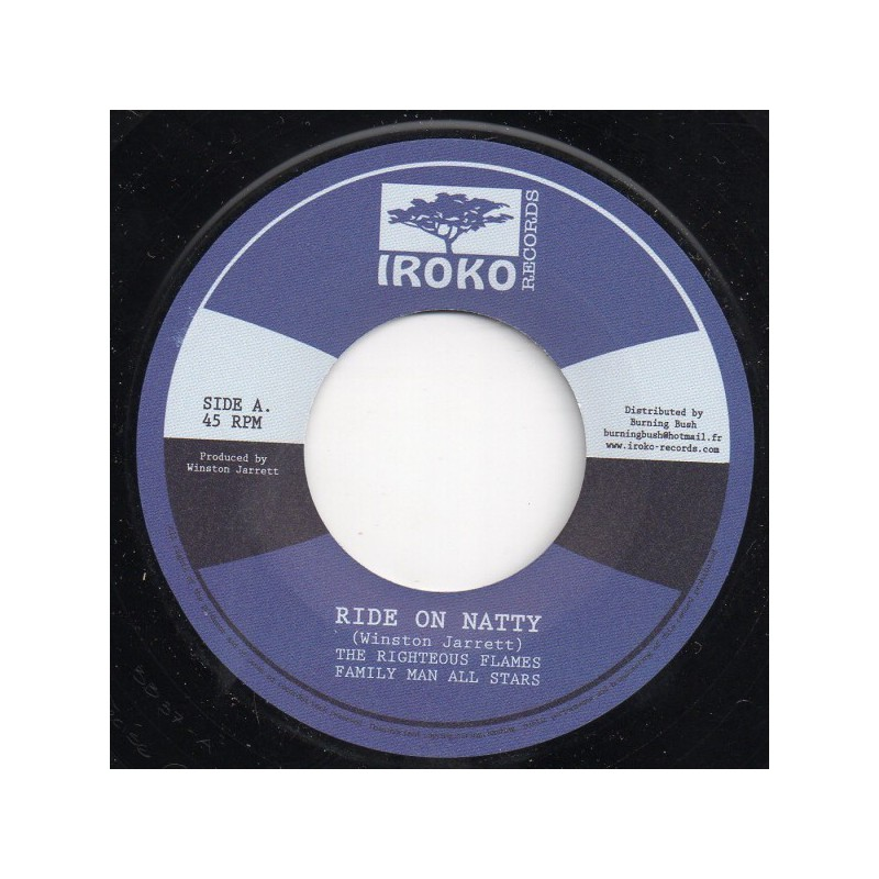 "(7"") WINSTON JARRETT & THE RIGTHEOUS FLAMES - RIDE ON NATTY"