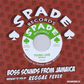 """(7"""") IMPERIALS - YOUNG LOVE / HIPPY BOYS - CARIB SPECIAL"""