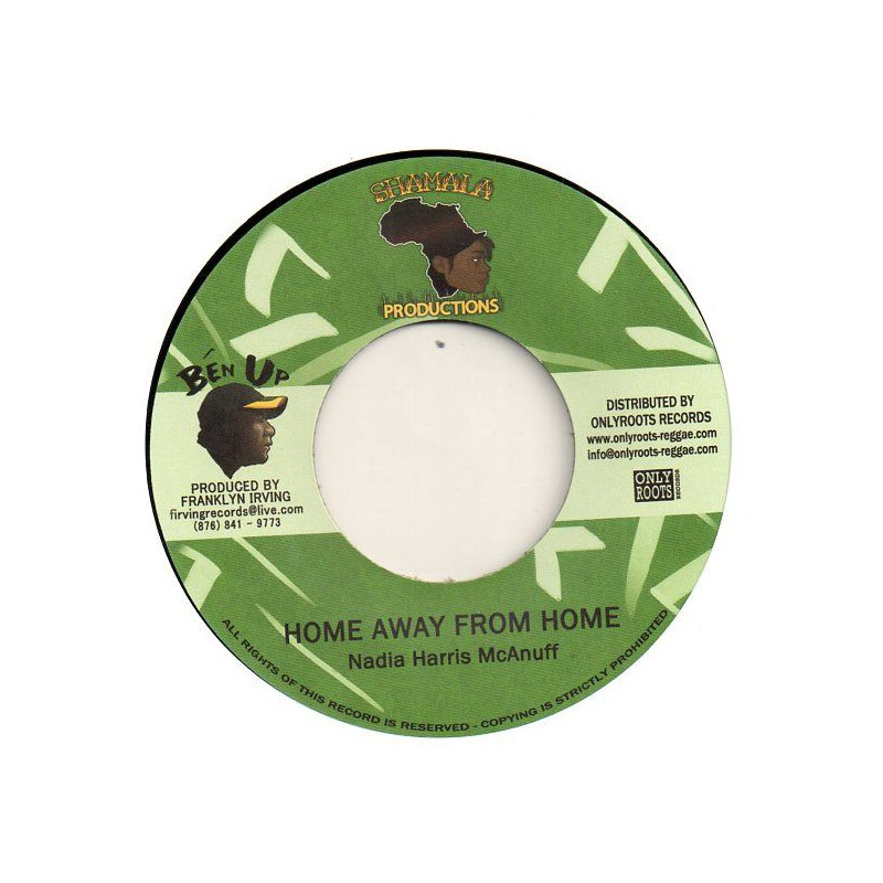 "(7"") NADIA HARRIS MCANUFF - HOME AWAY FROM HOME / EARL Jr MIX - STONE ROCK DUB"