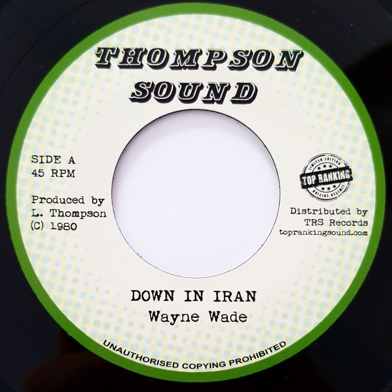 "(7"") WAYNE WADE - DOWN IN IRAN / VERSION"