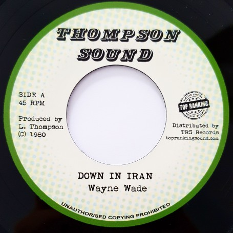 "(7"") WAYNE WADE - DOWN IN IRAN / VERSION"