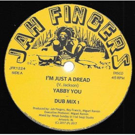 "(12"") YABBY YOU - I'M JUST A DREAD / JAH FINGERS ALL STARS - DUB MIX 1 & 2 / INSTRUMENTAL"