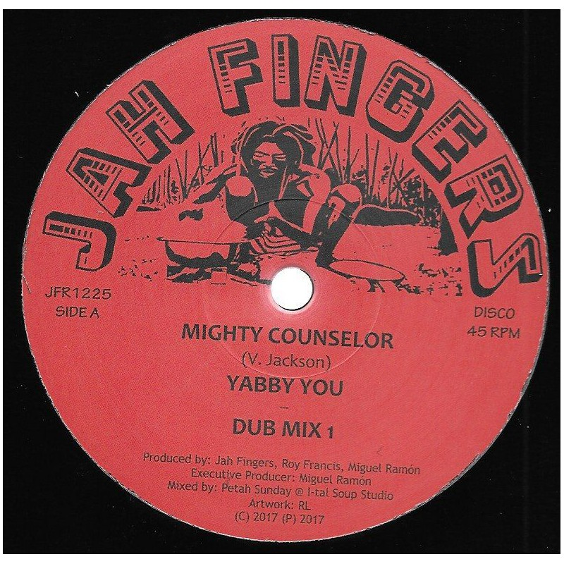 "(12"") YABBY YOU - MIGHTY COUNSELOR / JAH FINGERS ALL STARS - DUB MIX 1 & 2 / INSTRUMENTAL"