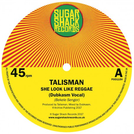 "(7"") TALISMAN - SHE LOOK LIKE REGGAE (Dubkasm Vocal & Dub)"
